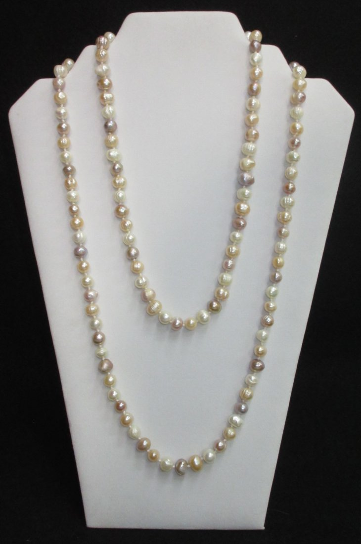 Fabulous 70's H.T.'d Genuine Circle Pearl Necklace - 3