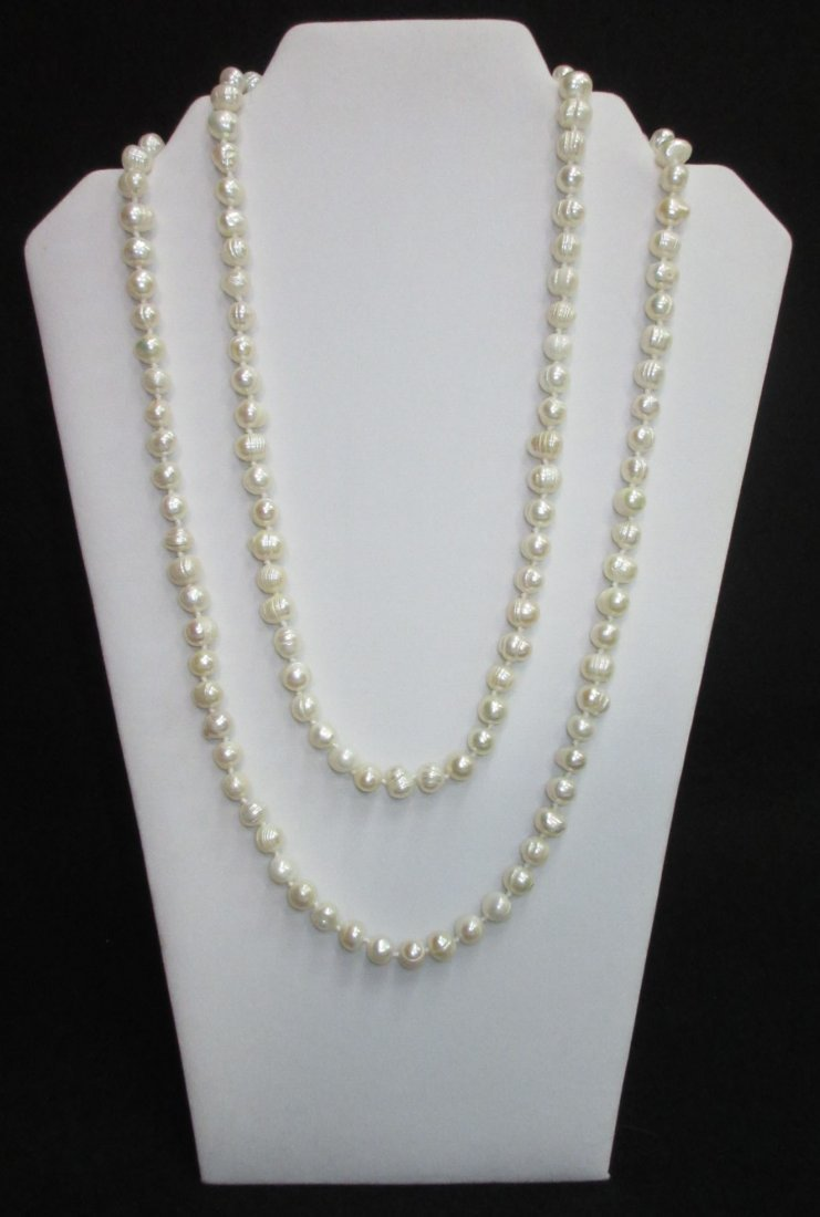 Quality 70's H.T.'d Genuine Circle Pearl Necklace