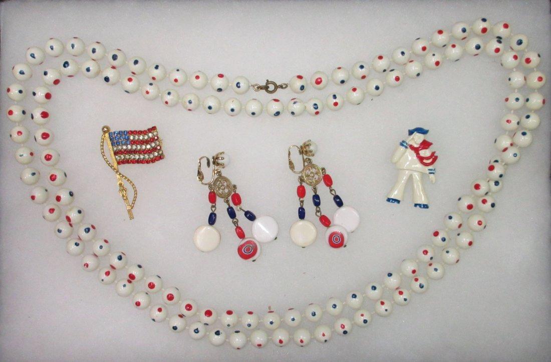 70's Patriotic Jewelry Collection- 4pc