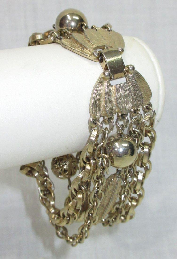 7 Strand Chain/ Beaded Necklace & Krammer Brac - 2