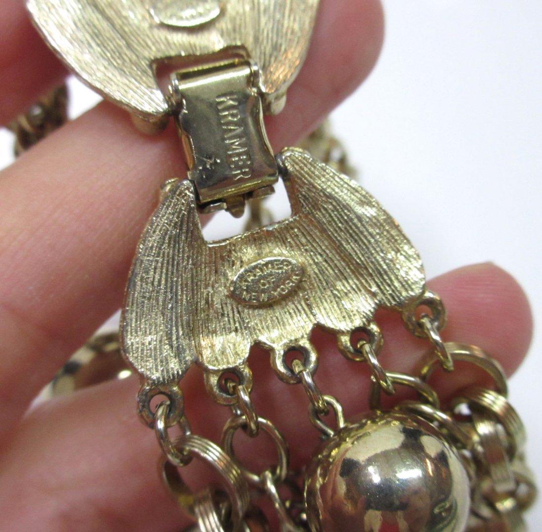 7 Strand Chain/ Beaded Necklace & Krammer Brac - 3