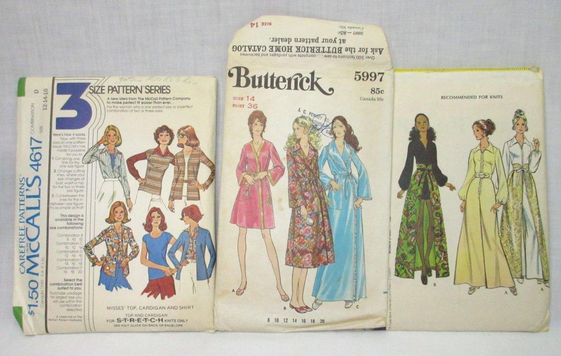 "7 Vtg. 70's Bust 36"" Variety of Dress Patterns - 2"