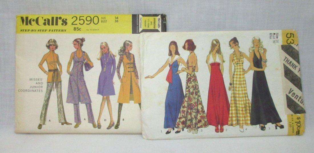 "7 Vtg. 70's Bust 36"" Variety of Dress Patterns - 3"