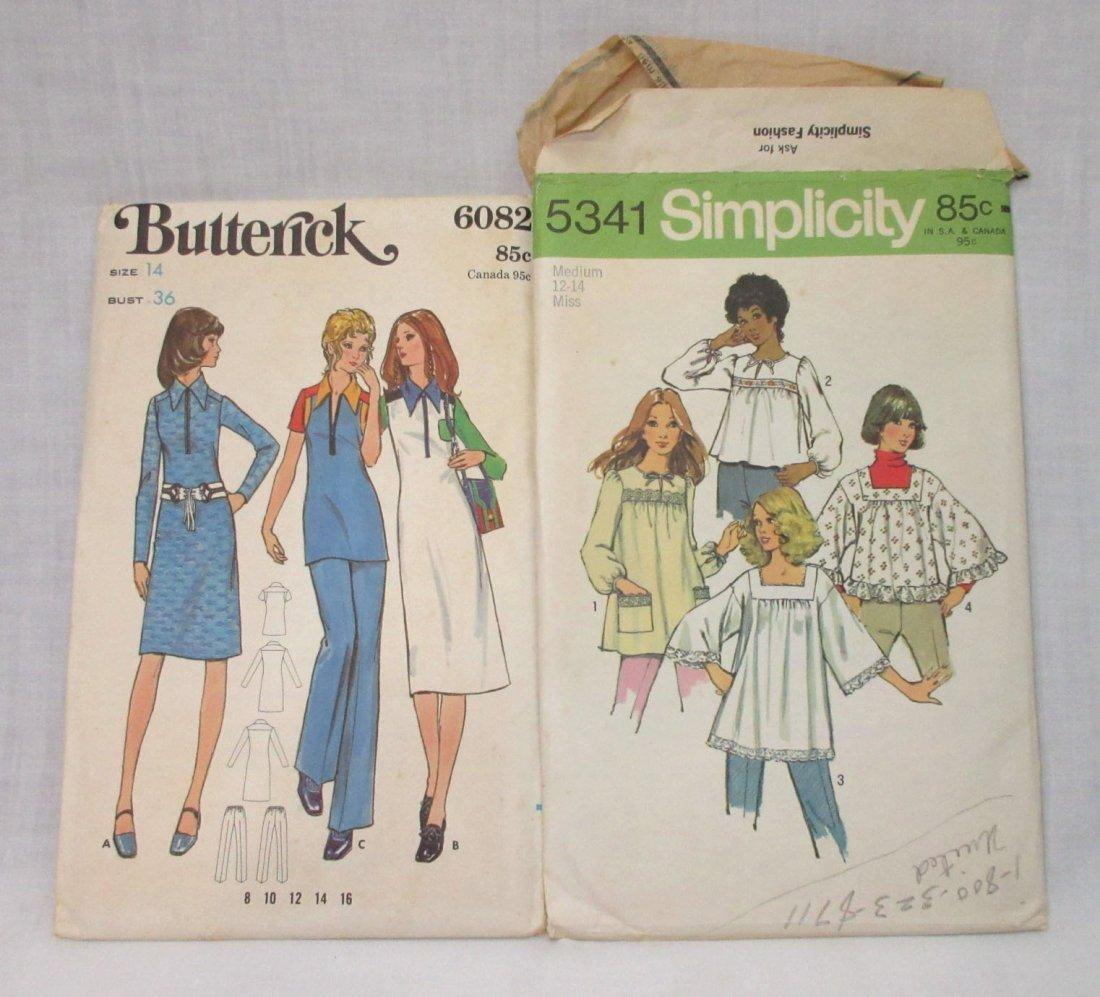 "7 Vtg. 70's Bust 36"" Variety of Dress Patterns - 4"