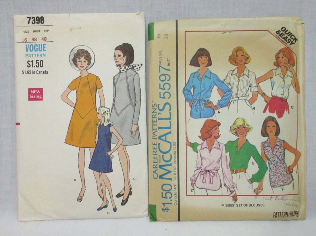"""10 Great 70's Bust 38"""" Dress/Pant Patterns - 2"""