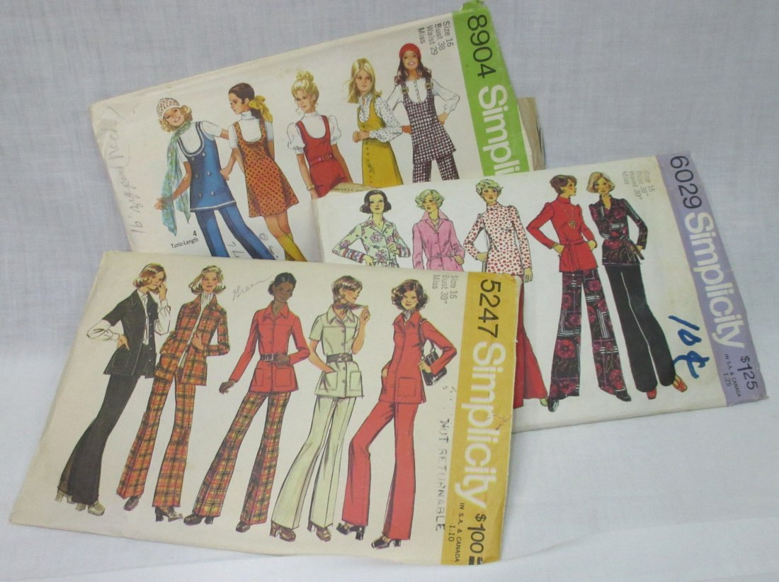 """10 Great 70's Bust 38"""" Dress/Pant Patterns - 5"""