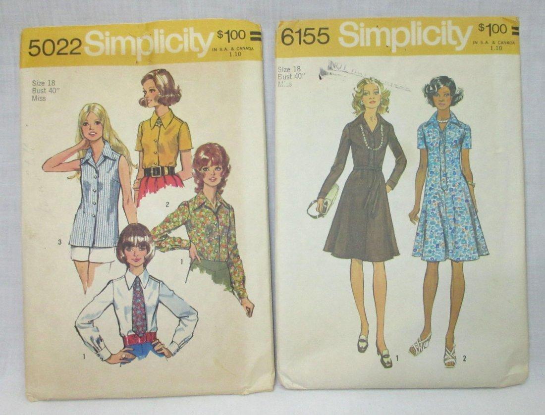 """8 Vtg 70's Cocktail & Dress Patterns, Bust 40"""" - 3"""