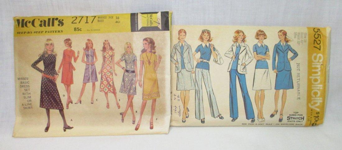 """8 Vtg 70's Cocktail & Dress Patterns, Bust 40"""" - 5"""