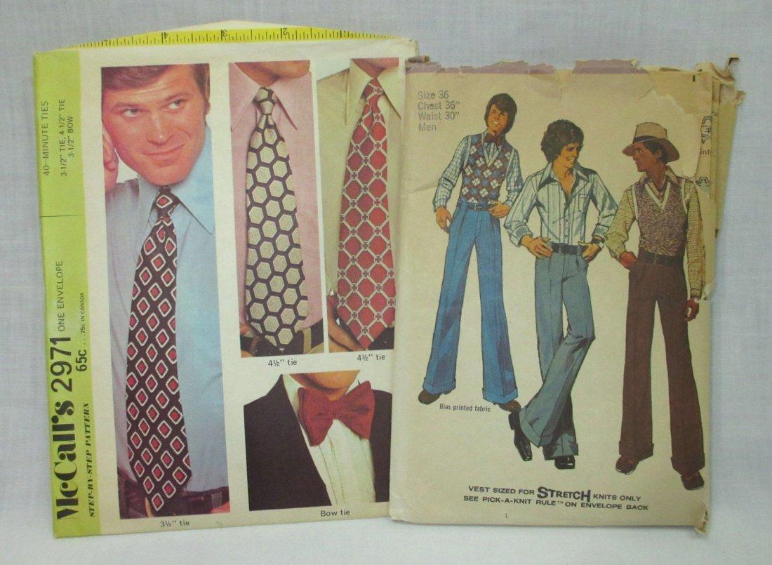"""2 Men's 70's Vtg Patterns. Chest 36"""""""