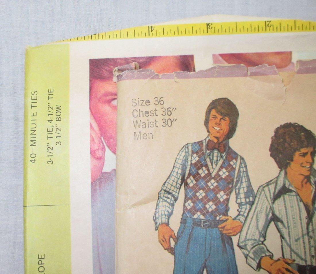 """2 Men's 70's Vtg Patterns. Chest 36"""" - 2"""