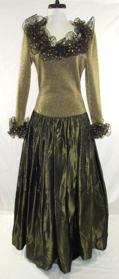 Stunning Oscar De LaRenta Formal 1980's Gown - 2
