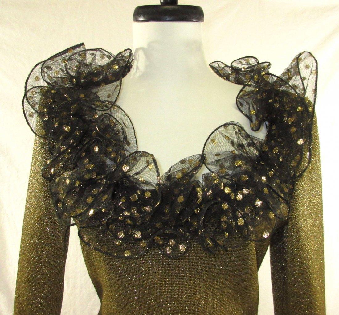 Stunning Oscar De LaRenta Formal 1980's Gown - 3