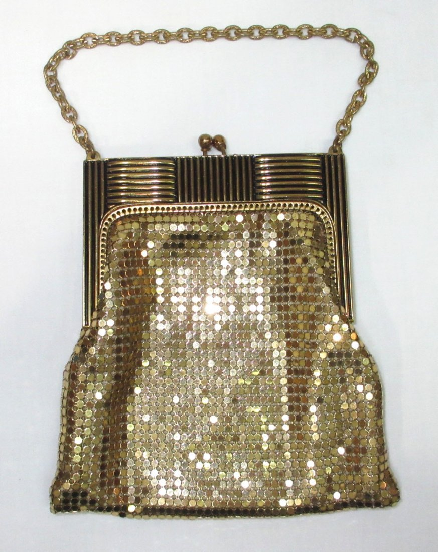 Deco Style Whiting & Davis Gold Armor Mesh Bag