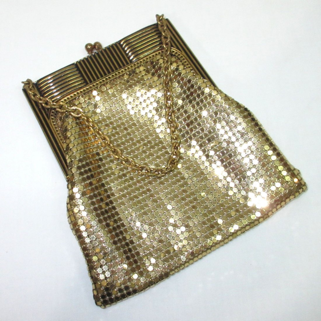 Deco Style Whiting & Davis Gold Armor Mesh Bag - 2