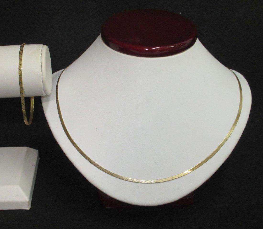 14Kt Gold Necklace & Bracelet
