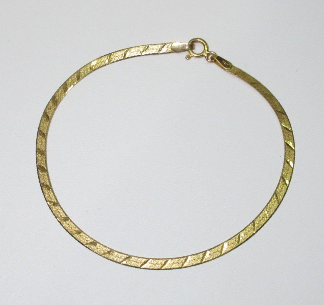 14Kt Gold Necklace & Bracelet - 2