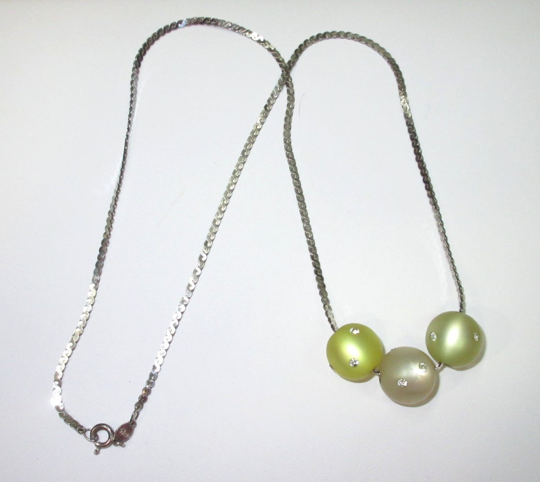 Sterling Necklace with 3 Moonglow Enhancers - 2