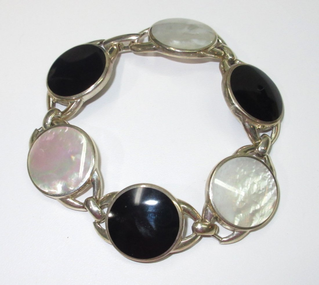Sterling & MOP Bracelet - 2