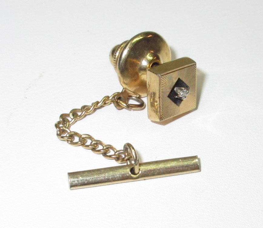 Anson Karatclad Diamond Tie Tack