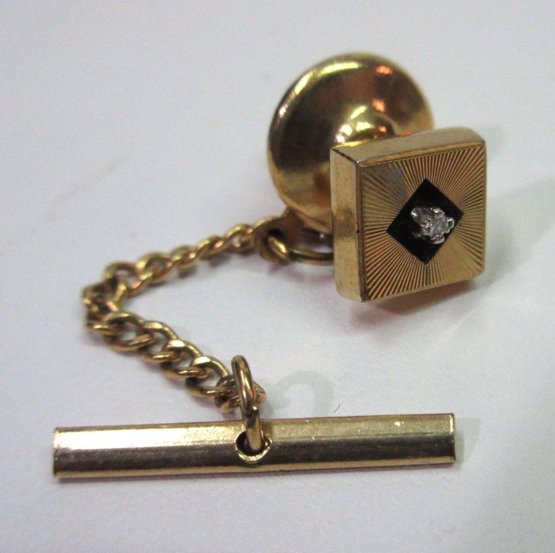 Anson Karatclad Diamond Tie Tack - 2