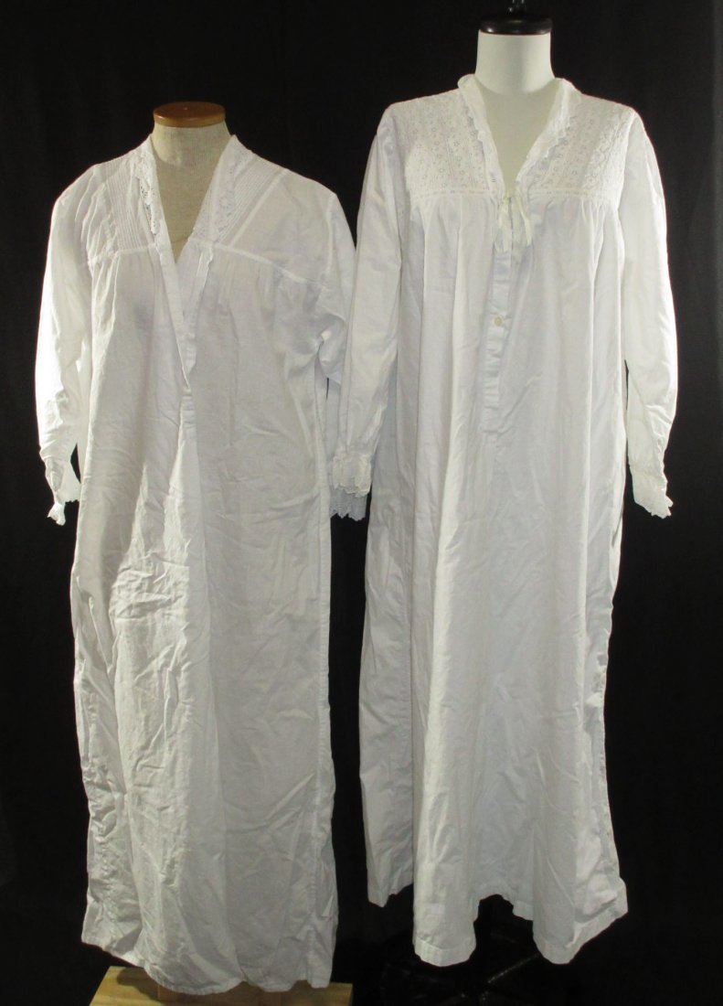 2 Lovely Edwardian Cotton English Nightgowns