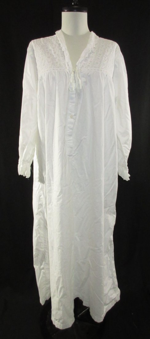 2 Lovely Edwardian Cotton English Nightgowns - 2