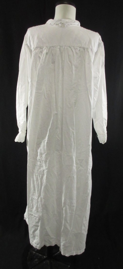 2 Lovely Edwardian Cotton English Nightgowns - 3