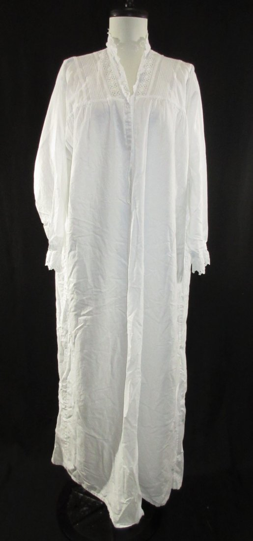 2 Lovely Edwardian Cotton English Nightgowns - 4