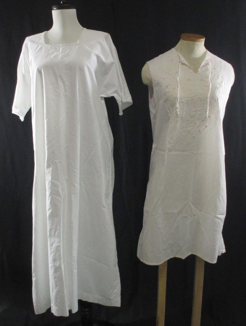 Vtg. Ladies Cotton Nightgown's, 2pc