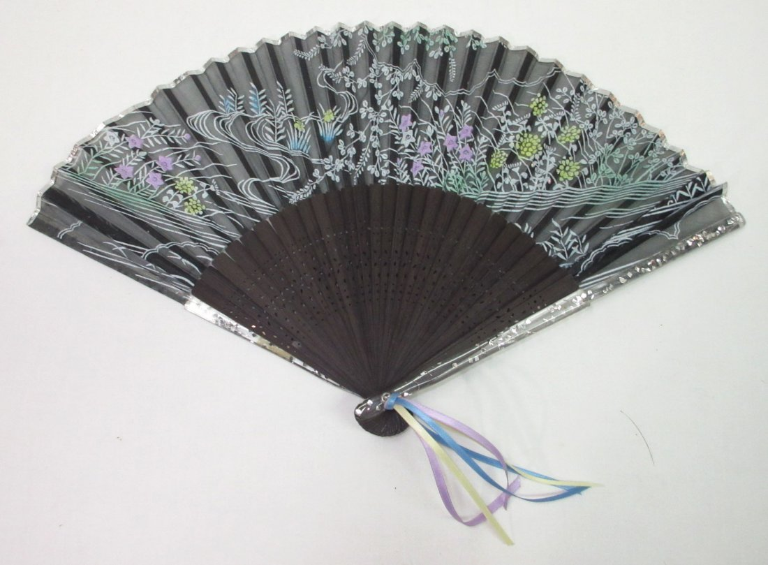 3 Vintage Fan's - Teak, Enameled - 4
