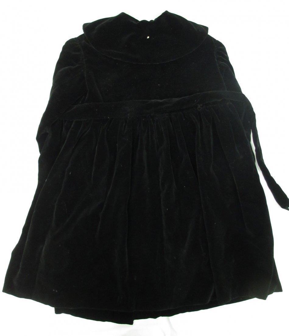 30's or 40's Black Velvet Child's Coat - 6