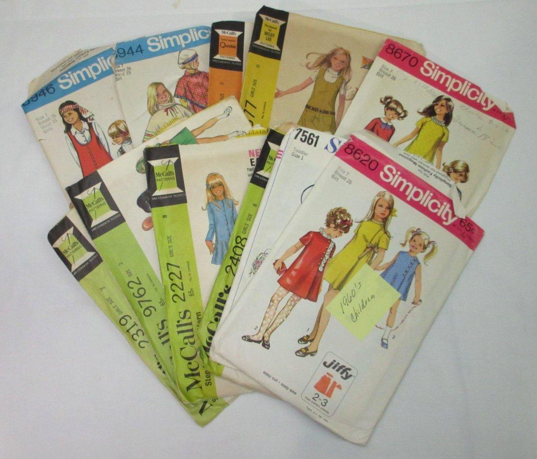 1960's Children Dress Patterns - 11pc