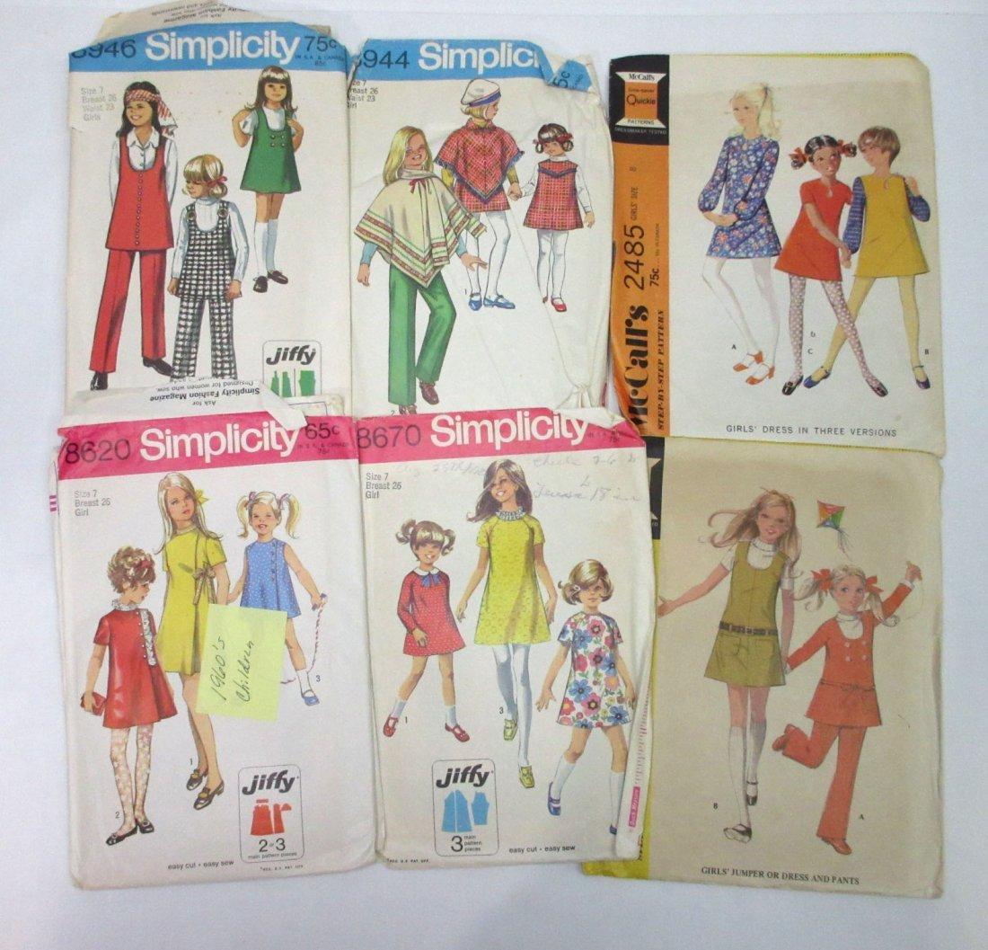 1960's Children Dress Patterns - 11pc - 2