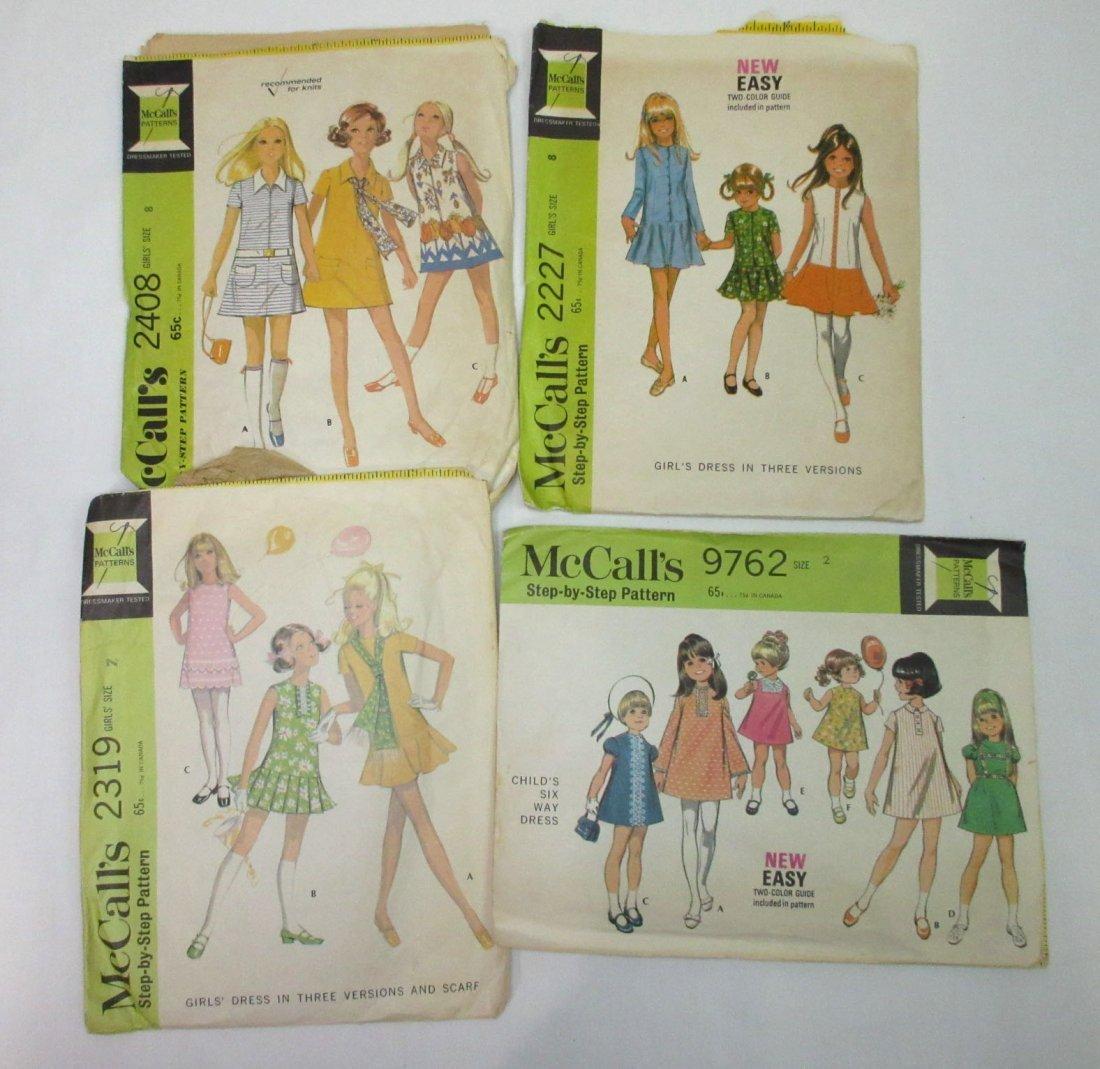 1960's Children Dress Patterns - 11pc - 3