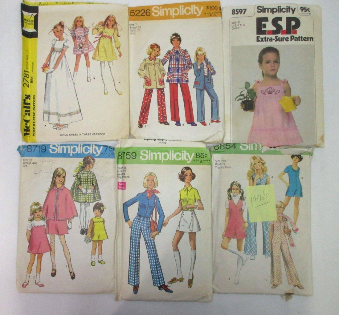 1970's Young Teen & Girls Dress Patterns, 12pc - 3