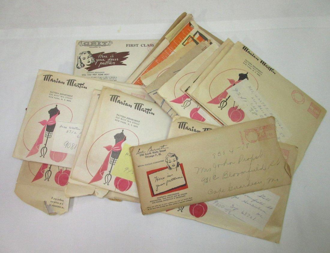 """""""19"""" Vtg. Mail Order Dress Patterns"""