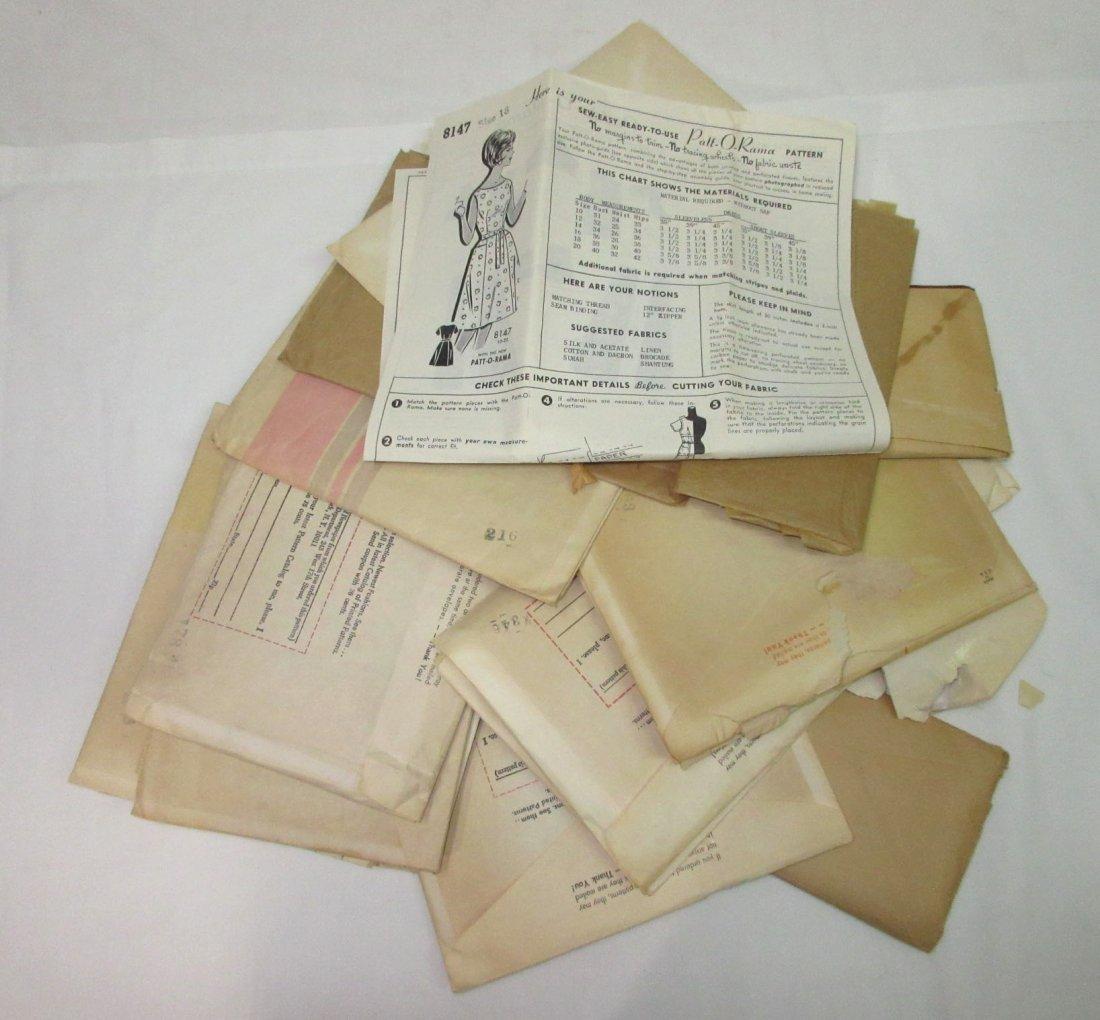"""""""19"""" Vtg. Mail Order Dress Patterns - 2"""