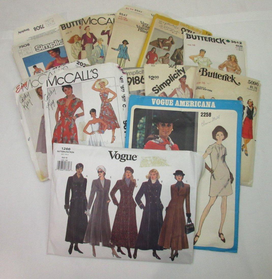 1980's-90's Vogue & Asst. Dress Patterns