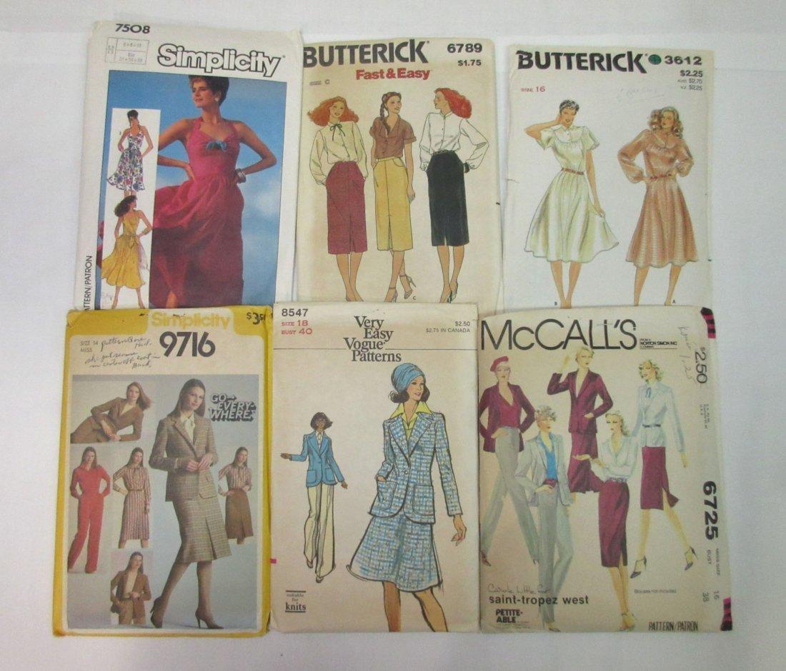 1980's-90's Vogue & Asst. Dress Patterns - 2