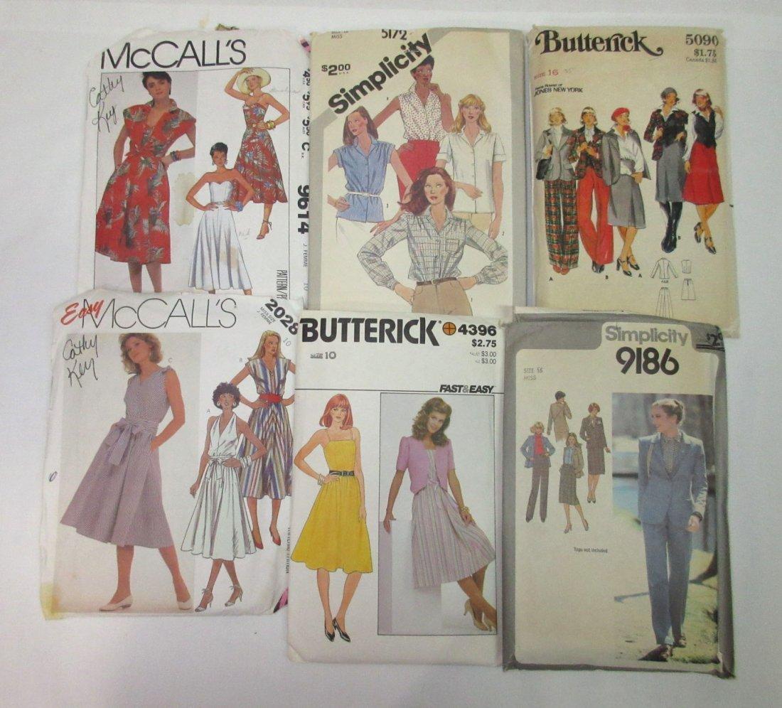 1980's-90's Vogue & Asst. Dress Patterns - 3