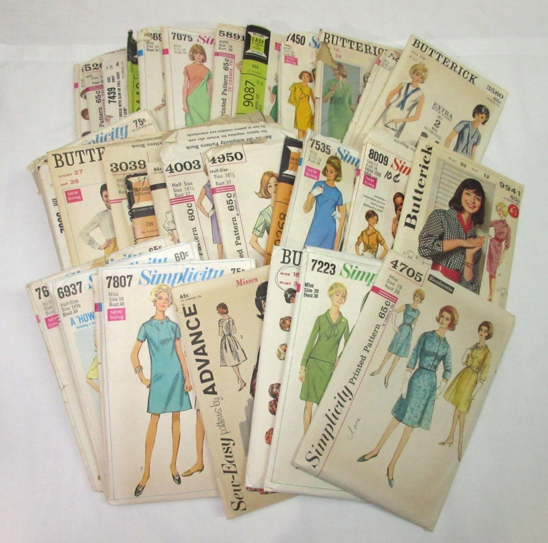 """""""33"""" - 1960's Dress Patterns, Bust 32 to 41"""
