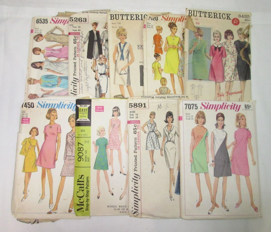 """""""33"""" - 1960's Dress Patterns, Bust 32 to 41 - 2"""