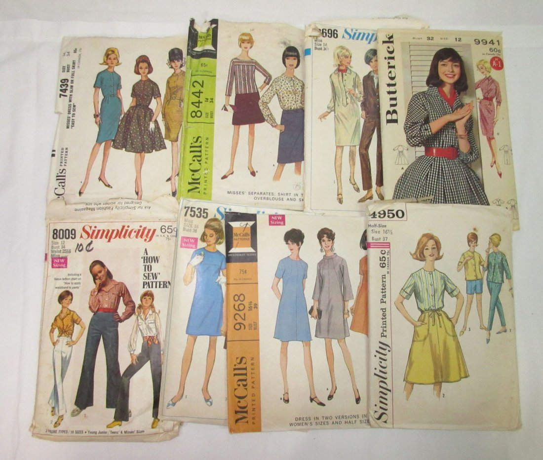 """""""33"""" - 1960's Dress Patterns, Bust 32 to 41 - 3"""