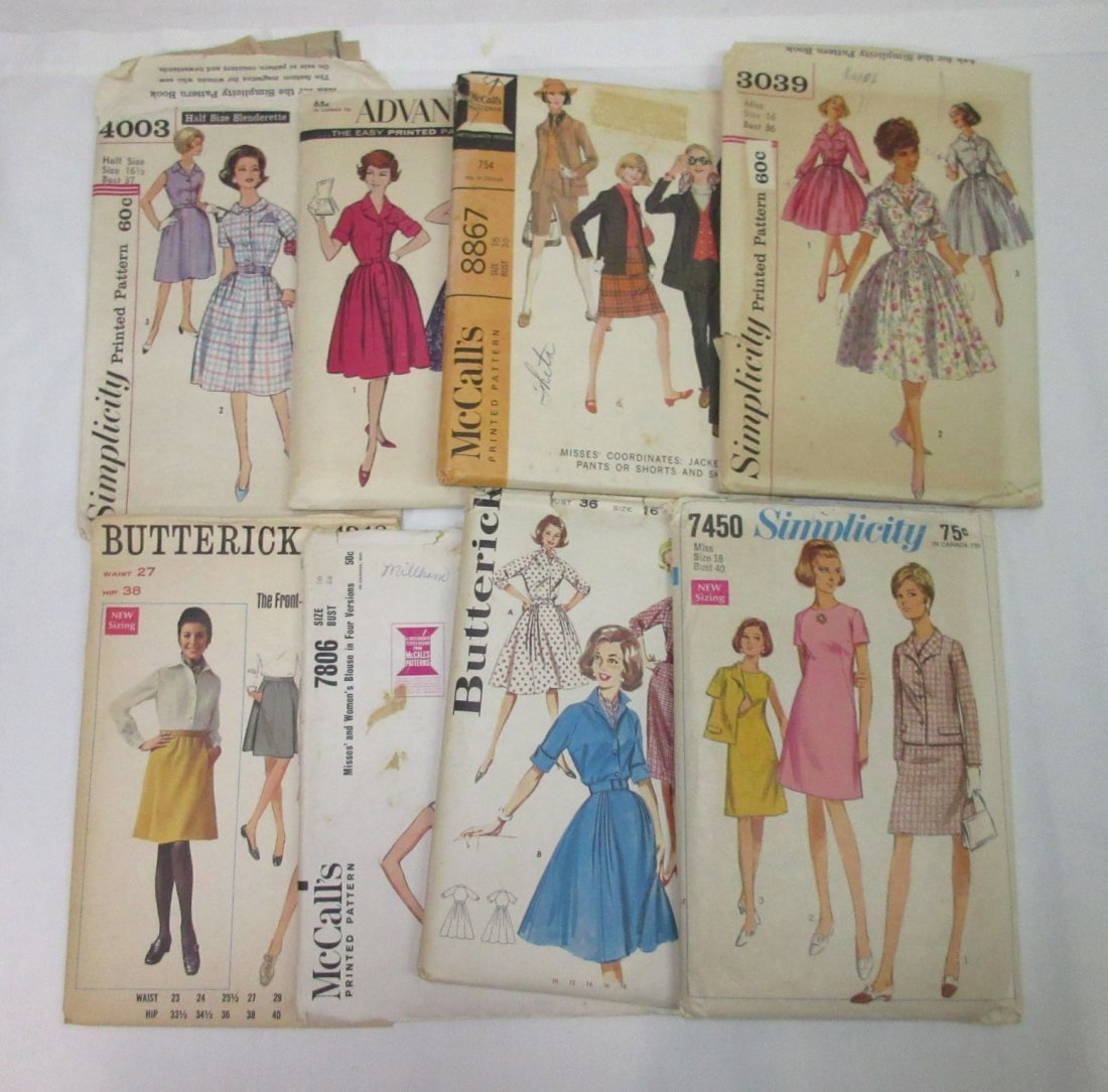 """""""33"""" - 1960's Dress Patterns, Bust 32 to 41 - 4"""