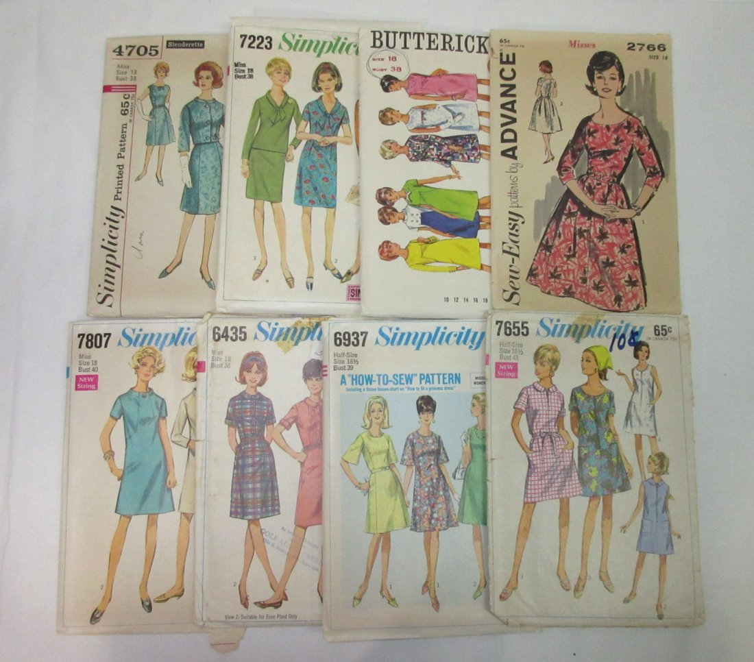 """""""33"""" - 1960's Dress Patterns, Bust 32 to 41 - 5"""