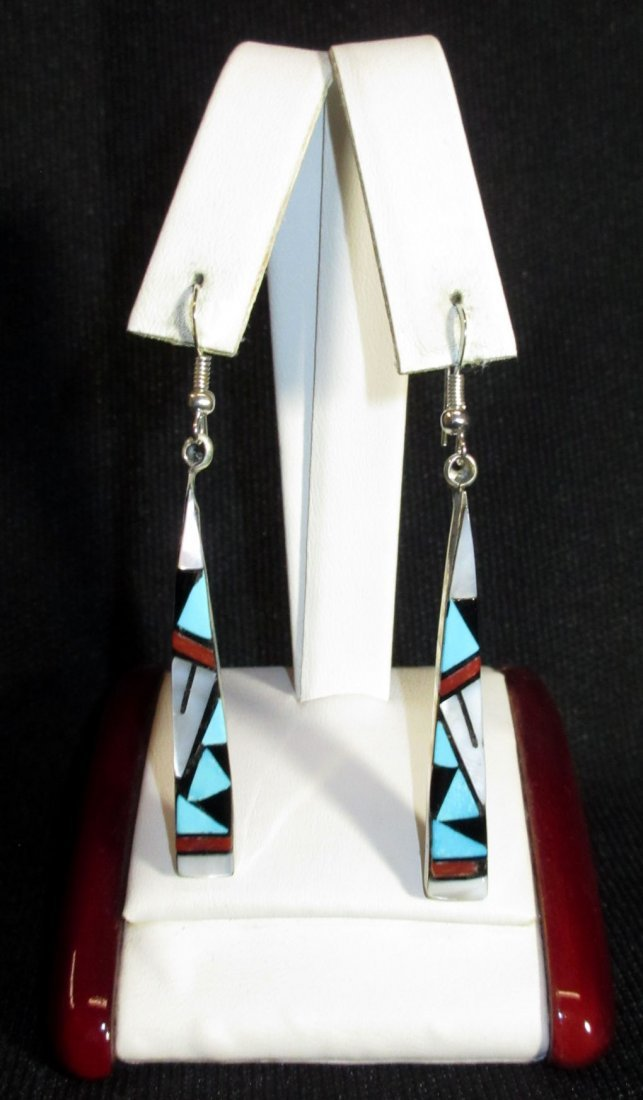 Zuni Sterling & Turq. Earrings