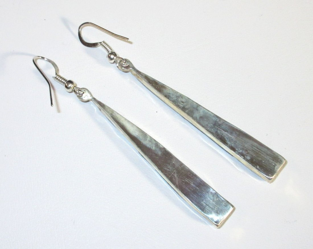 Zuni Sterling & Turq. Earrings - 3
