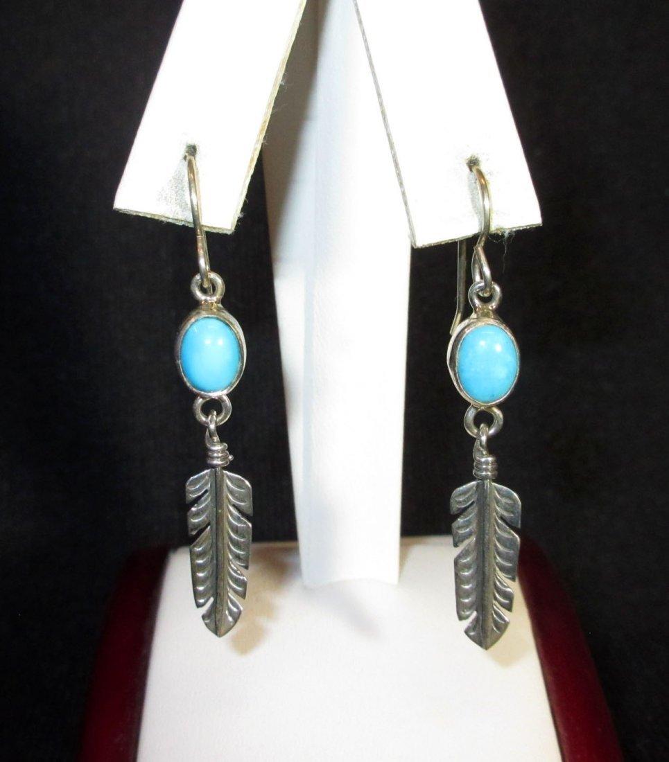 Navajo Sterling & Turq. Earrings