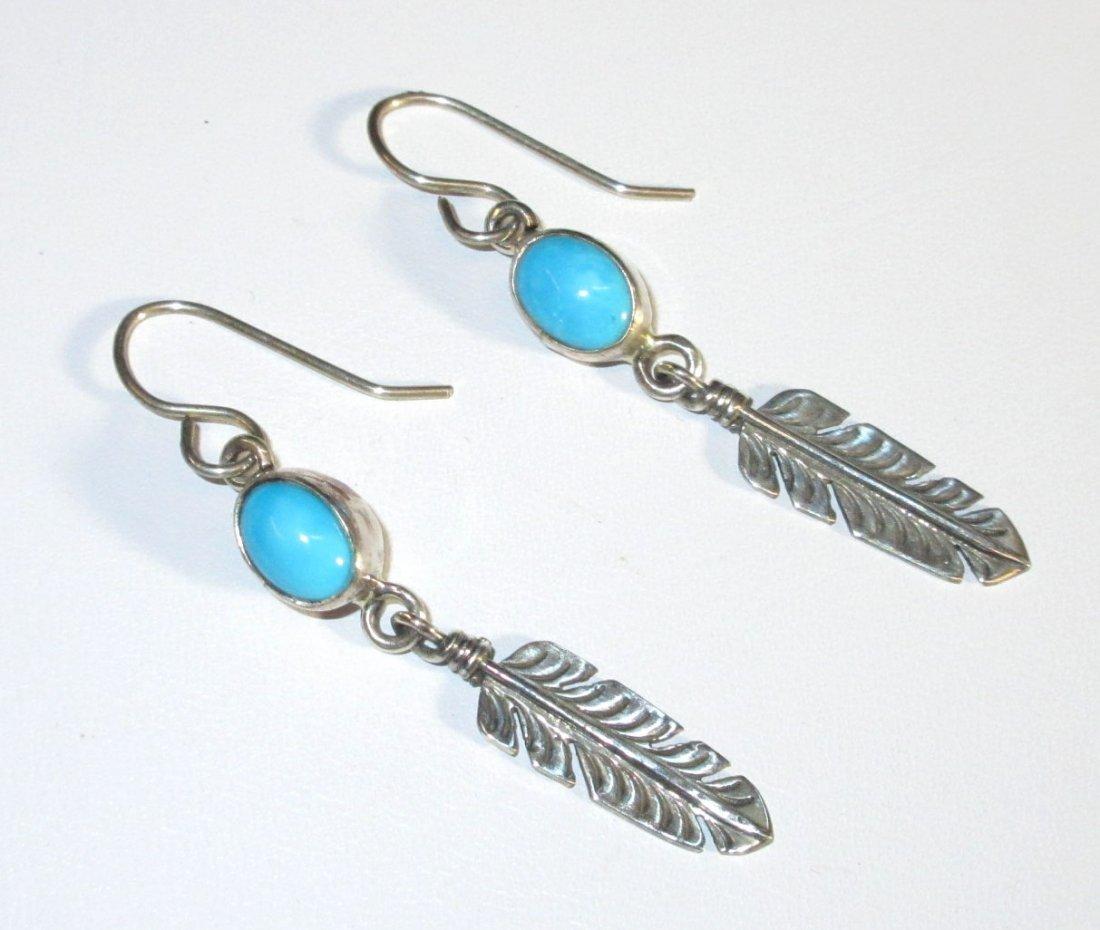 Navajo Sterling & Turq. Earrings - 2