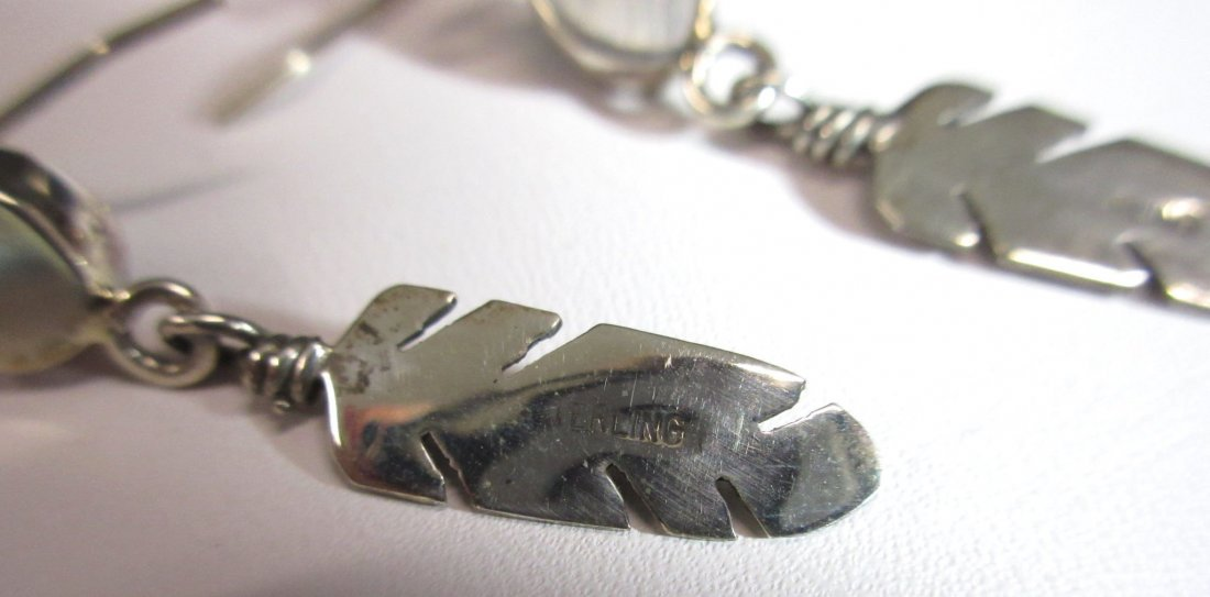 Navajo Sterling & Turq. Earrings - 4